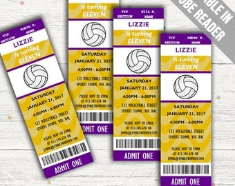 Volleyball Party Invitations. Editable PDF. Printable. Instant Download.