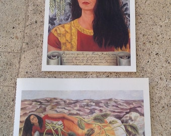 Frida Kahlo - Postcard Paintings - Reproductions-  Self-Portrait with Unbound Hair - Artsy - Collectible