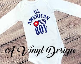 All American Patriotic Baby Clothing Bodysuit