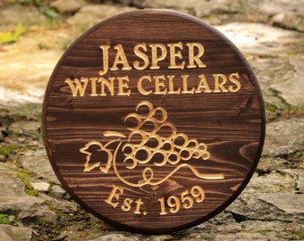 Wine Barrel Wall Art custom wine barrel   etsy