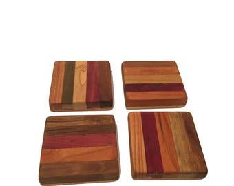 Reclaimed Wood Coasters, One set of Four Coasters   Sku: 254