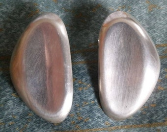 LARGE sterling silver modern earrings FREE shipping!