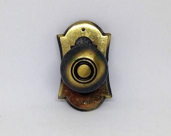 Salvage Hardware Door Handle, Brass Patina Cabinet Handle, Eclectic Hardware, Salvaged Hardware