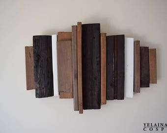 Rustic 3D Wooden Wall Art - Reclaimed wood (Made to Order) Customizable