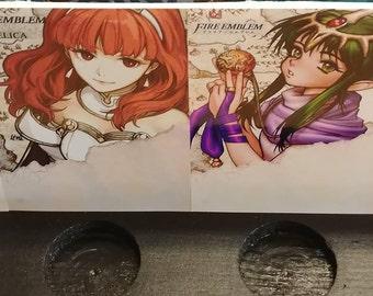 Alm, Celica, Tiki, Chrom Amiibo Stand/Wall Display