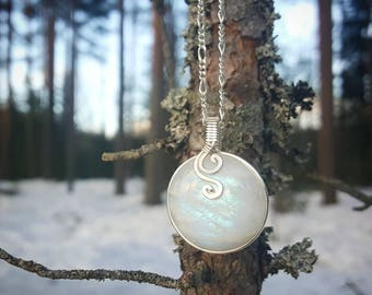 Glowing Silver Moon