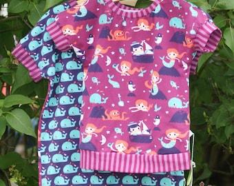 Mermaid Kids T-Shirt from organic fabrics handmade organic