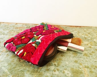 LARGE MEXICAN POUCH, Makeup Bag, Mexican bag