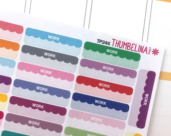 Work Planner Stickers with Scalloped Detail (TP246)