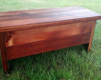 Reclaimed Barn Wood Storage Bench