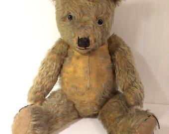 Antique Teddy Bear, Mohair Teddy Bear, Vintage Teddy Bear, Old Teddy, Stuffed Toy, Collectors Bear.