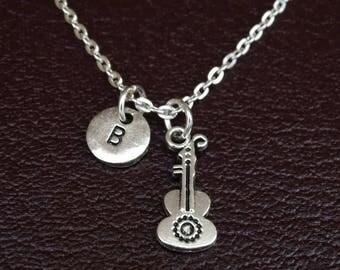 Ukulele Necklace, Ukulele Charm, Ukulele Pendant, Ukulele Jewelry, Ukulele Gifts, Guitar Necklace, Guitar Charm, Guitar Pendant, Guitar Gift