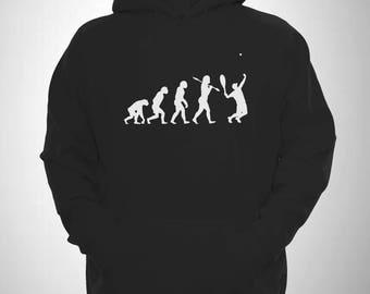 Tennis Hooded Sweatshirt Evolution of Man Ace Serve Hoodie