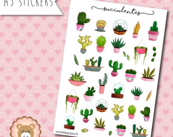 """Succulent"" Stickers planners"