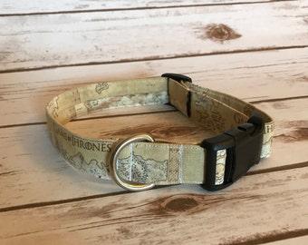 Game of Thrones fabric dog collar, TV Show Dog Collar, Dog Collars, Themed Dog Collars, Handmade Dog Collars, Game of Thrones