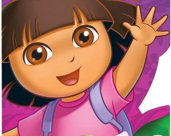 Dora the Explorer ''Flower Adventure'' Invitations w/ Envelopes, Save the Date & Seals (8ct each)