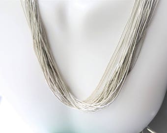Liquid Sterling Silver Necklace 30 Strands