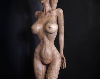 Nude Woman Wood Sculpture - Zonara