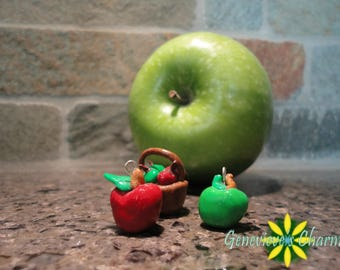 Polymer Clay Apple Charms
