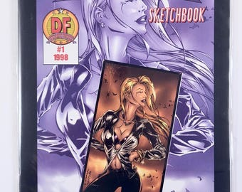 Darkchylde Sketchbook #1, Vintage Dynamic Forces Exclusive, Certificate of Authenticity, Mint Condition, Ariel Chylde