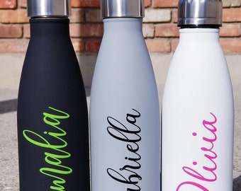 DIY Personalized Vinyl Decal for Water Bottle
