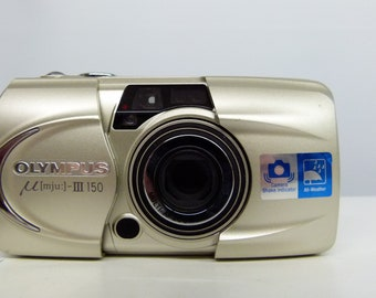 90'S Olympus Mju III Zoom 150 35mm Compact Camera With Power Zoom 37.5mm-150mm - Very Retro!
