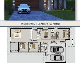 159m2 |Affordable Architecture Design & Home builders brochures House Plans |narrow lot| study|