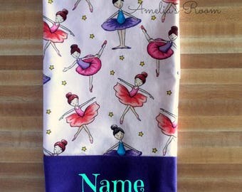 Ballet Pillowcase,Ballarina Girls Pillowcase,Novelty Pillowcase, Embroidered, Monogrammed, Personalized, Travel Pillowcase,Ballerina,Toddler