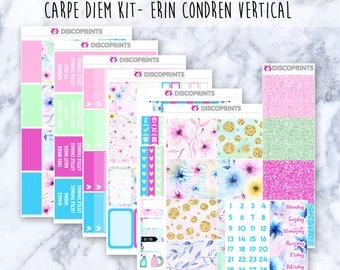Carpe Diem Vertical Weekly Kit (200+ Matte Planner Stickers)