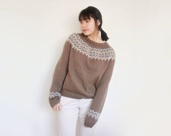 Chocolate Fair Isle Jumper