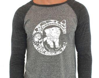 Compassionfest Vegan Holiday Bazaar 2017 Pig Shirt Size M