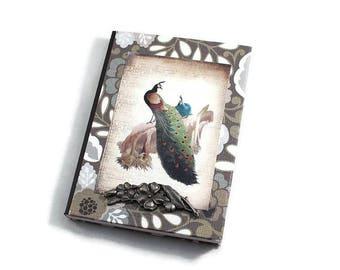 Small Journal, Mini Journal, Peacock, Bird, Travel Journal, Prayer Journal, Lined Journal, Personal Diary, Small Notebook, Pocket Diary
