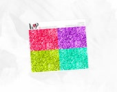 Cabana Glitter Headers - Matte or Glossy Erin Condren Planner Stickers