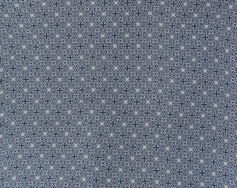 """Navy Blue Fabric, Floral Print, Dressmaking Fabric, Ethnic Fabric, Sewing Crafts, 50"""" Inch Rayon Fabric By The Yard ZBR601A"""