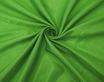 "Green Silk Dupioni Fabric, Dress Material, Event Decor Fabric, Sewing Fabric, 43"" Inch Shantung Fabric By The Yard ZSH1M"