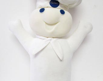 Pillsbury Doughboy Poppin' Fresh Dough Boy Talking Plush Doll 1996 Fun 4 All