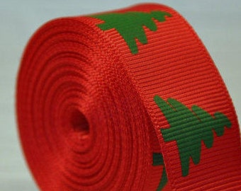 "1"" Red & Green Christmas Tree Collar with Side Release Buckle (D-Ring Martingale Option Available)"
