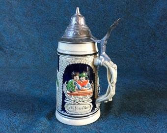 Vintage Thewalt German Beer Stein, Lidded Tankard, Collectible German Beer Stein, Octoberfest
