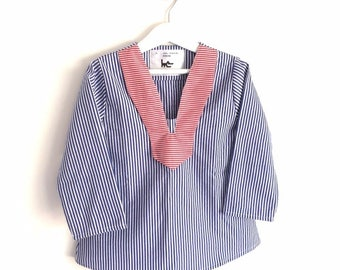 "Small shirt boy - ""little sailor"" - T 3/5 or 6/8 years."