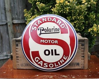 Vintage sign etsy for 99 cent store motor oil