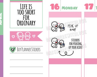 Munchkins -  Mom Life Pick Up Kids Planner Stickers (M318)