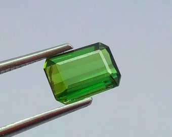 0.90 Carat Green Color Loose Gemstone Tourmaline @ Afghanistan 8.5*6.5*5mm (3)