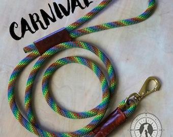 CUSTOM Carnival Leash || Rock Climbing Rope Dog Leash || Handmade in the USA