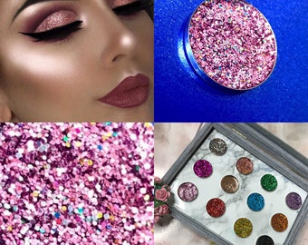 SPARKLY PRESSED GLITTER Eyeshadow Cosmetic Makeup (Pink Me Up) uk