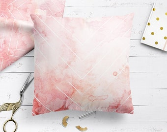 Pink Ombre Cushion in blush pink, pastel pink cushions home decor decorative pillow, handmade unique designer pillows, cushions UK, 2017