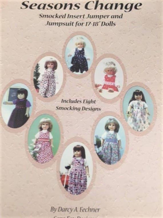 "Seasons Change, Smocked insert jumper for 18"" dolls, includes 8 smocking designs.x"