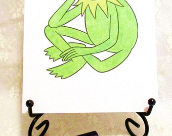 Kermit the Frog Note Card : Add a Greeting or Leave Blank