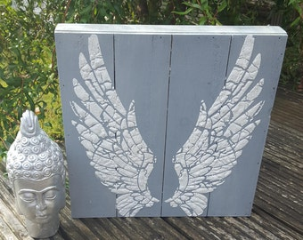 Wooden Box Sign Wings