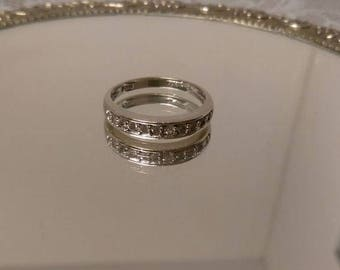 14kt WG Channel Set Diamond Ring