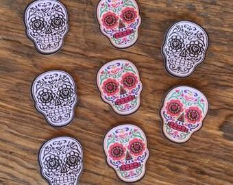 Dia Los Muertos Stickers